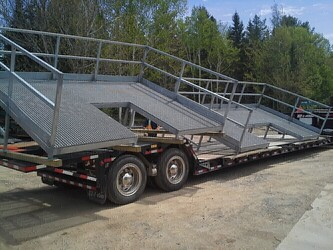 GALVANIZED ROOF PLATFORM (FABRICATION AND INSTALLATION