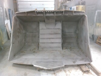 sandblasted scoop bucket